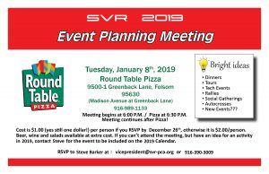 2019 Planning Meeting @ Round Table Pizza | Folsom | California | United States