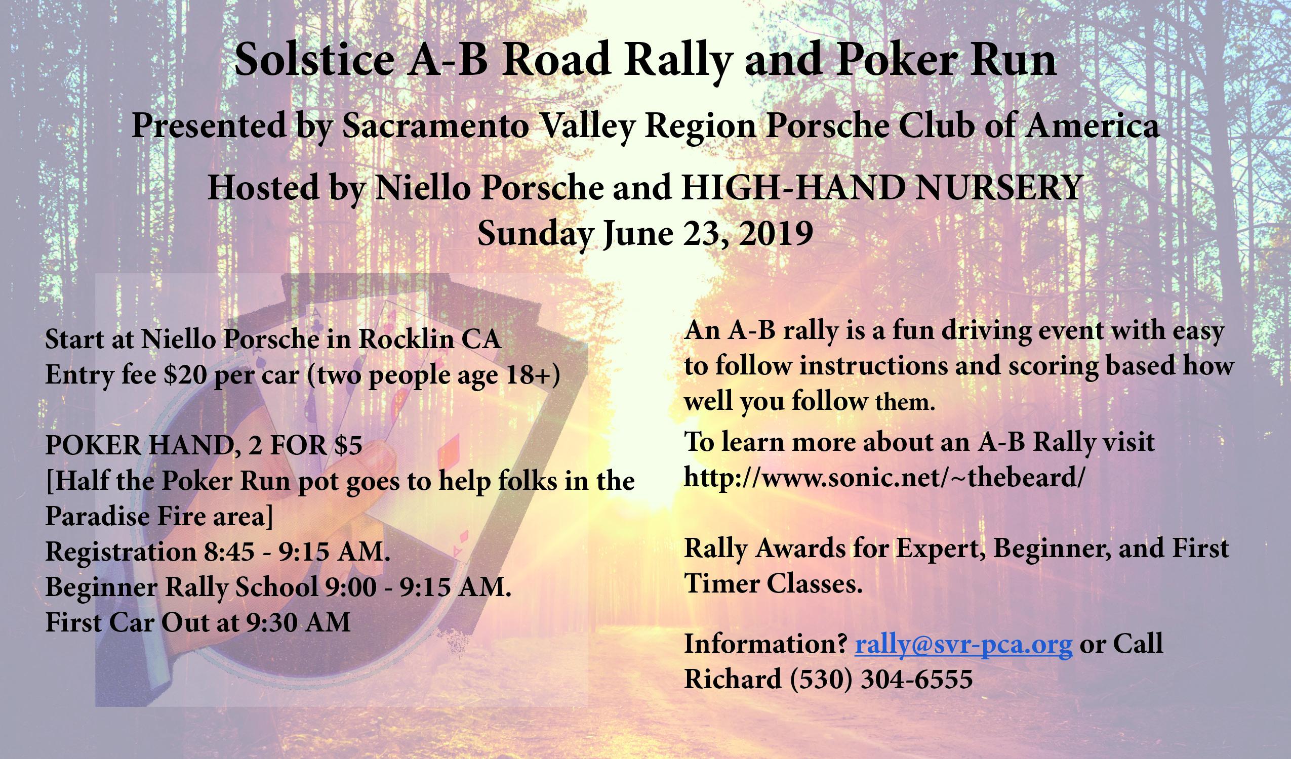 Solstice Rally @ Niello Porsche | Rocklin | California | United States