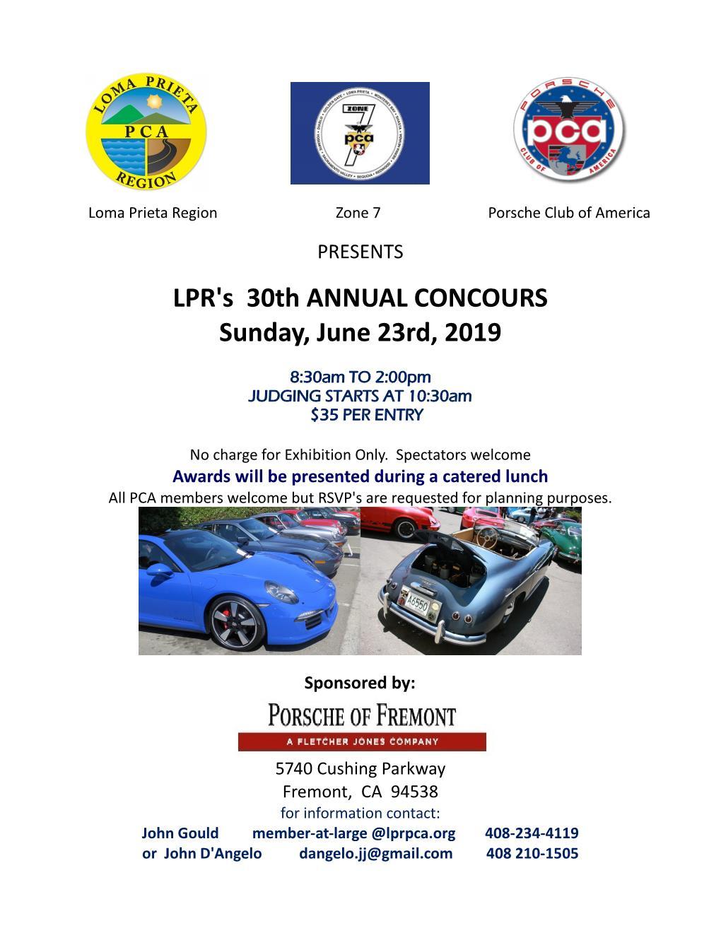 Loma Prieta Region & Zone 7 Concours @ Porsche of Fremont