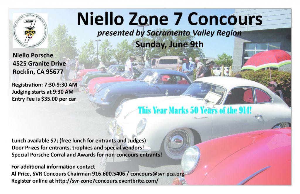 SVR/Niello Zone 7 Concours @ Niello Porsche Rocklin | Rocklin | California | United States