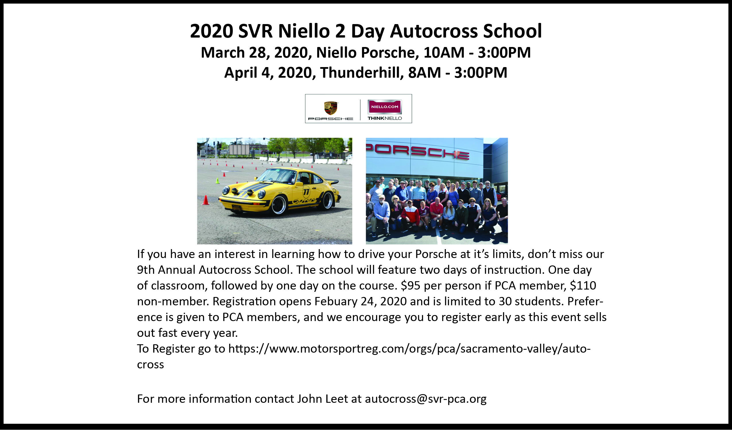 Day 2 SVR Autocross School - Course Day @ Thunderhill Raceway | Willows | California | United States