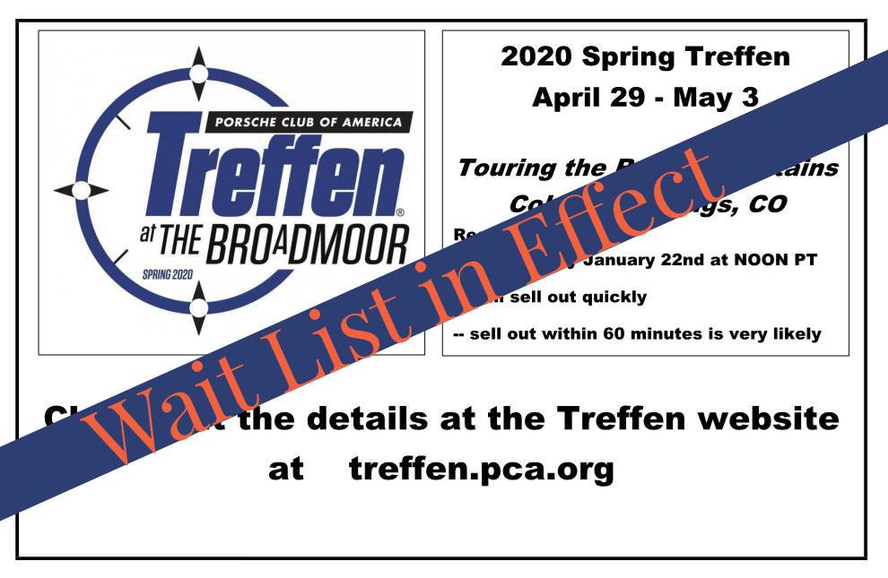 Spring Teffen 2020 - cancelled!