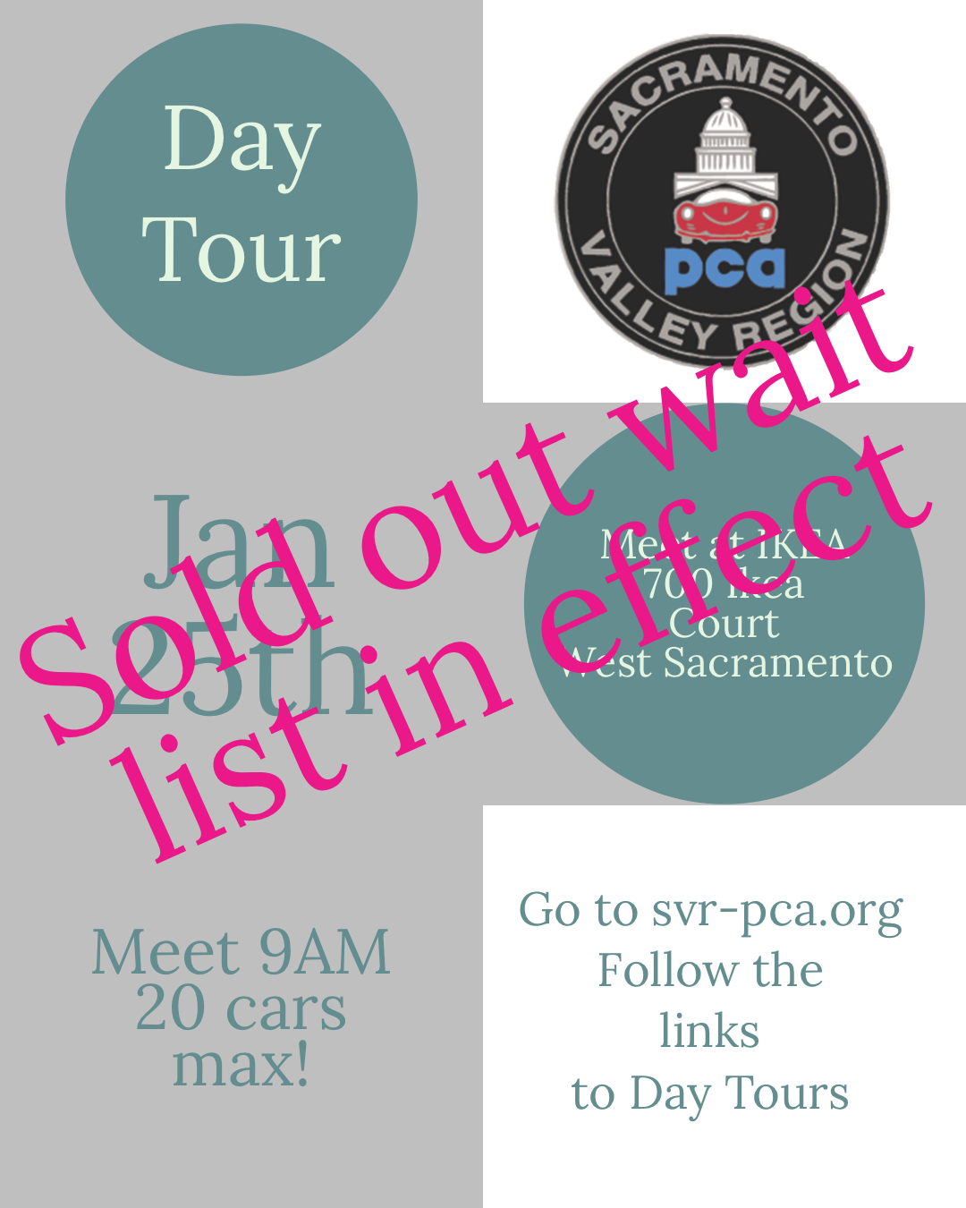 Day Tour! - Wait List in Effect! @ Ikea Parking Lot | West Sacramento | California | United States