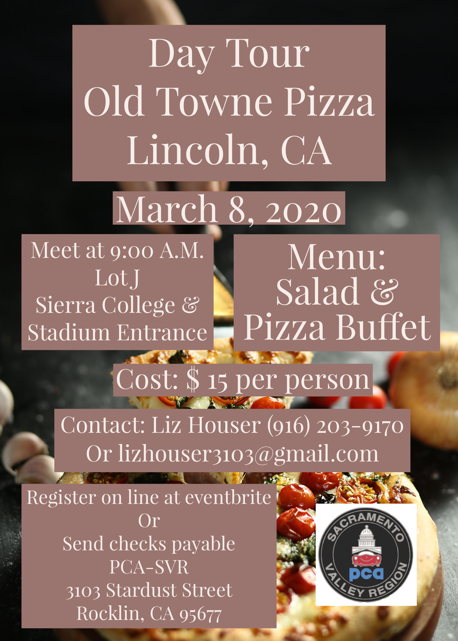 Day Tour Old Towne Pizza @ Old Town Pizza | Lincoln | California | United States