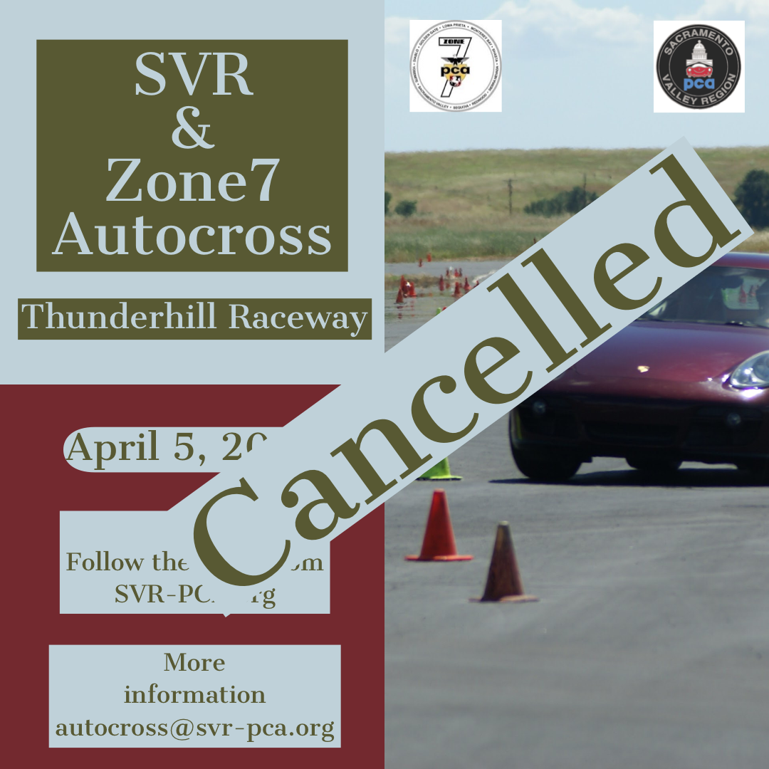 AX 1 Zone 7 Event - Cancelled @ Thunderhill Raceway | Willows | California | United States