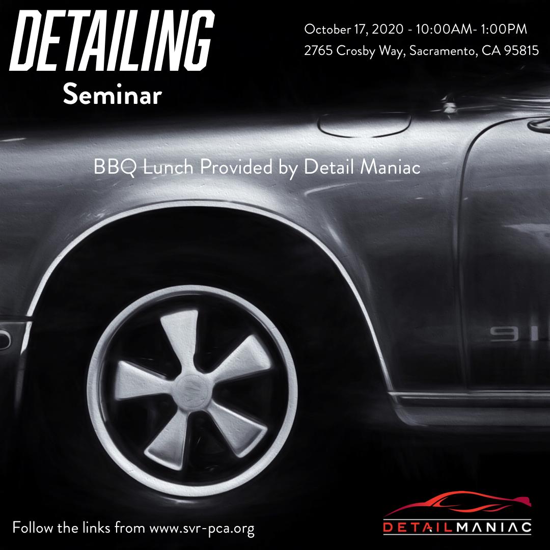 Detailing Your Car Seminar @ Detail Maniac | Sacramento | California | United States