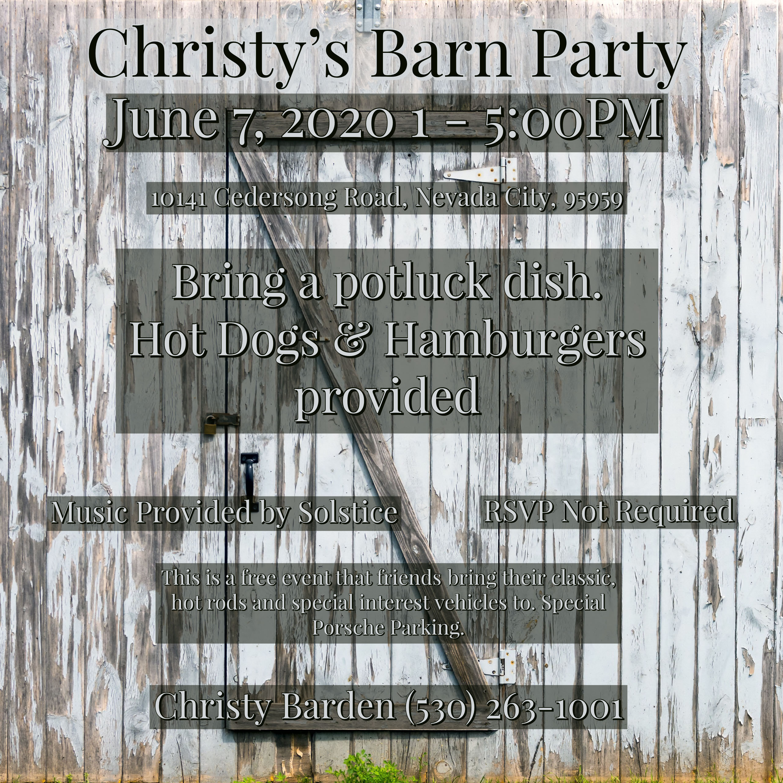 Christy's Barn Party @ Christy's Barn | Nevada City | California | United States
