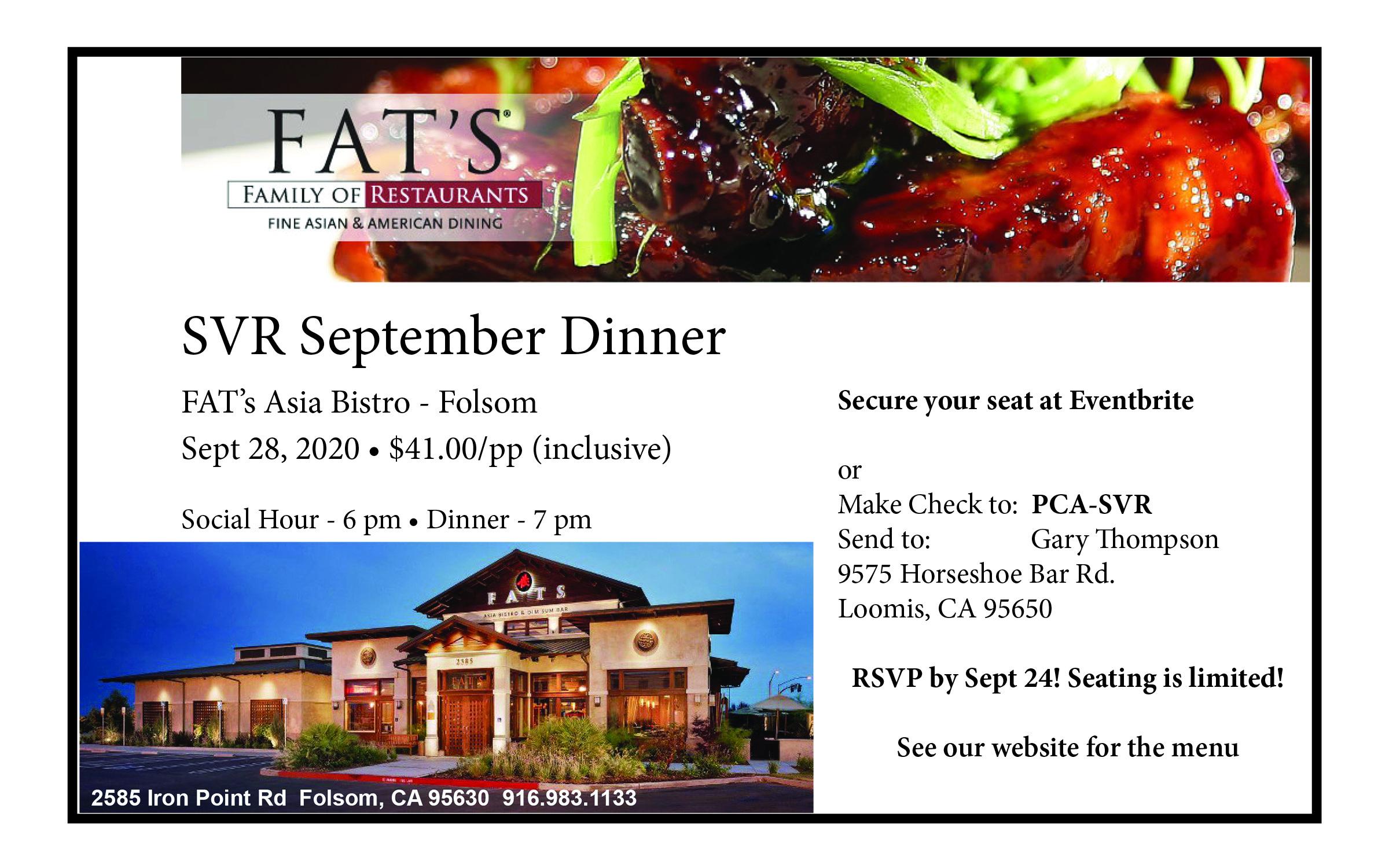 Fats Asian Bistro 2020 @ Fats Asia Bistro | Folsom | California | United States