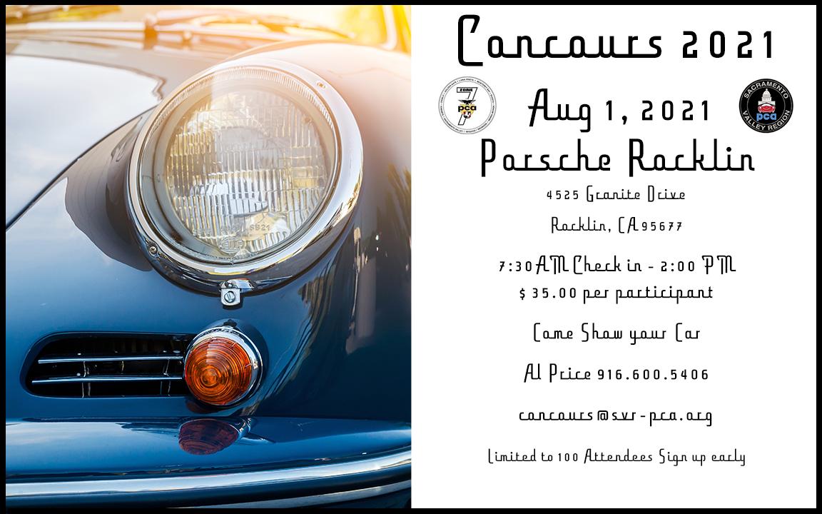 SVR Concours - Zone Event @ Porsche Rocklin   Rocklin   California   United States